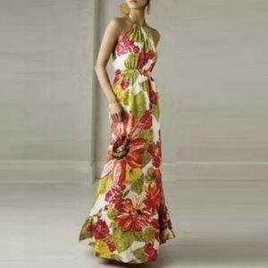 Anthro LIL Silk Halter Maxi Dress  MARKS Size 4
